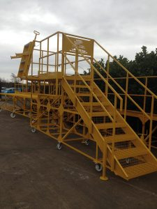 Built For: Magnox Ltd: Load Angel Work Safe Access platform to allow egress to Nuclear Waste Train Wagon