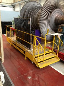 Built For: EDF Energy: Load Angel Work Safe Low Level Turbine Blade Inspection & Repair Access Platform